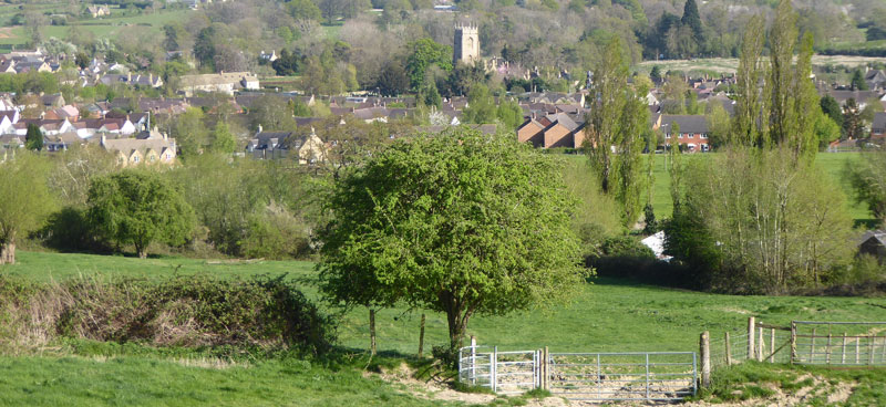 View descending Langley Hill