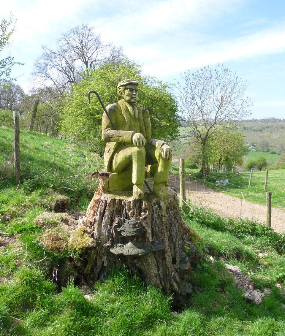 Millennium Wood Carving on Langley Hill