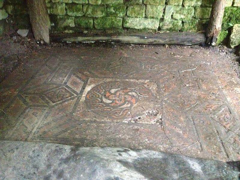 Spoonley villa mosaic floor