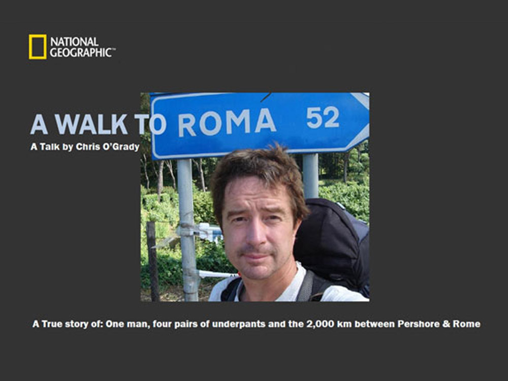 Event 18: Evening illustrated talk – 'Walking to Rome'