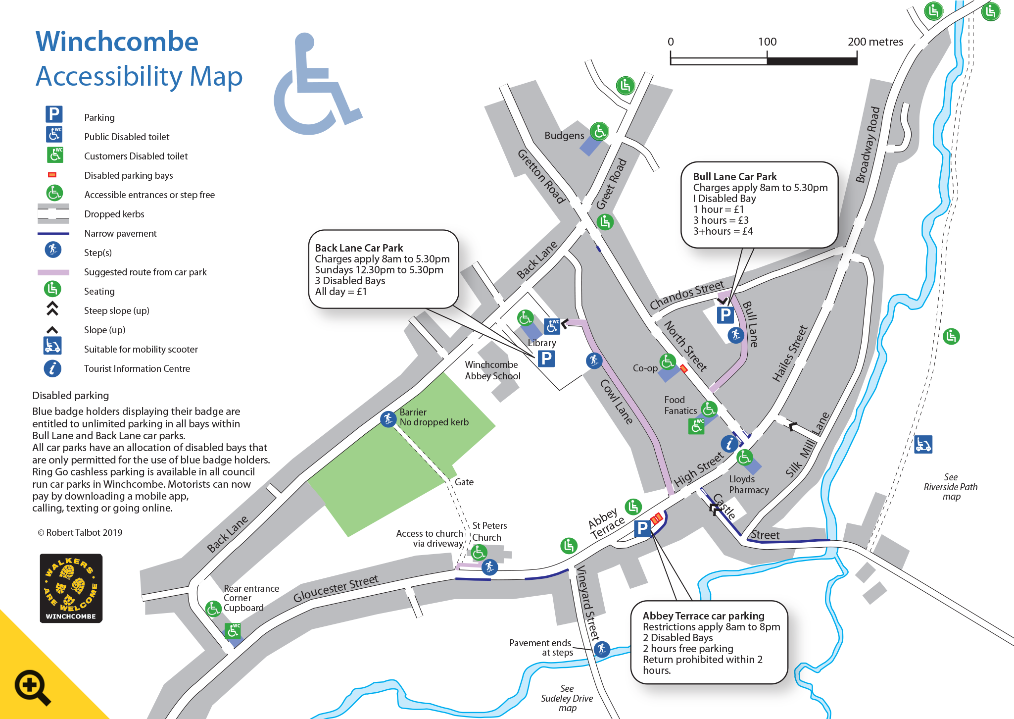 Winchcombe Accessibility Map